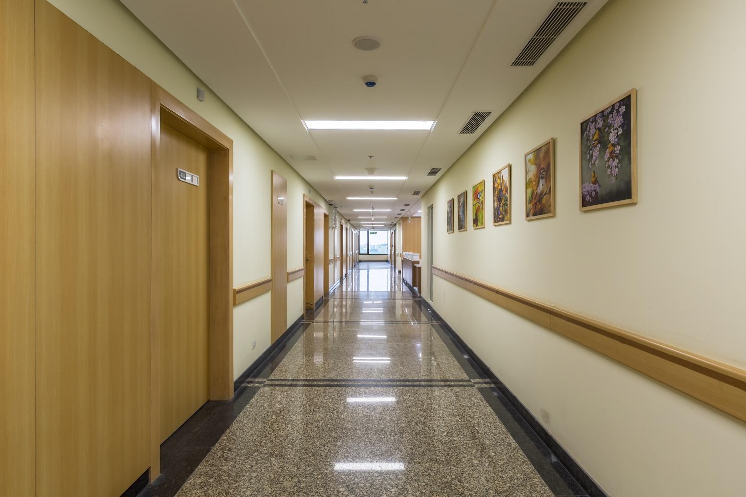 Hospital Hallway by Ravideep Singh Modern | Interior Design Photos & Ideas
