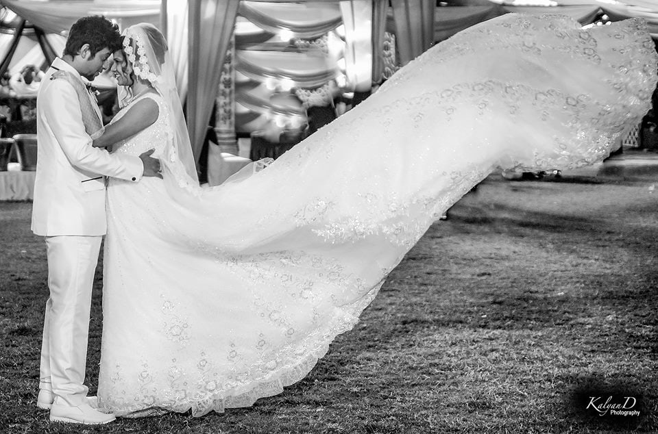 A bride wearing a dramatic gown! by KalyanD Photography Wedding-photography | Weddings Photos & Ideas