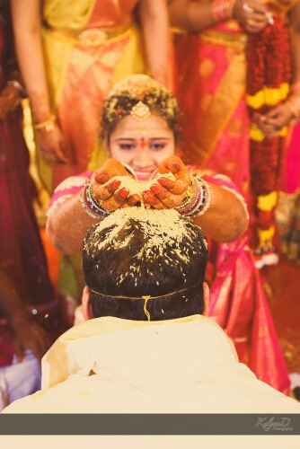 Groom showered with rice! by KalyanD Photography Wedding-photography | Weddings Photos & Ideas