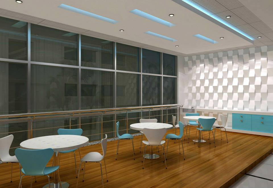 Modern office cafeteria by De Panache Interior Architecture  Modern | Interior Design Photos & Ideas