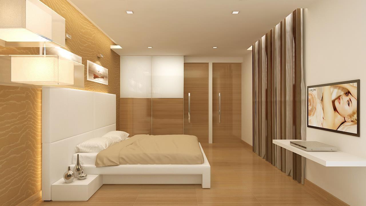 Modern bedroom with wooden flooring by De Panache Interior Architecture  Bedroom Contemporary | Interior Design Photos & Ideas
