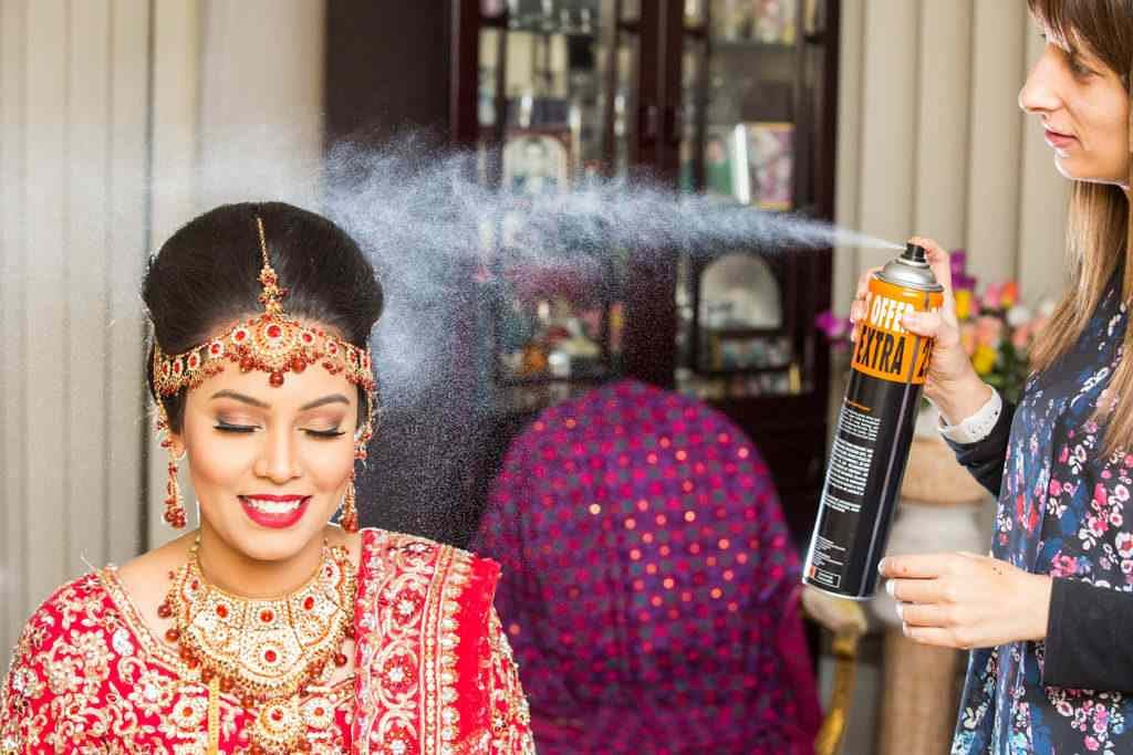 Spraying to perfection! by Sagar Makwana Wedding-photography Wedding-hairstyles | Weddings Photos & Ideas