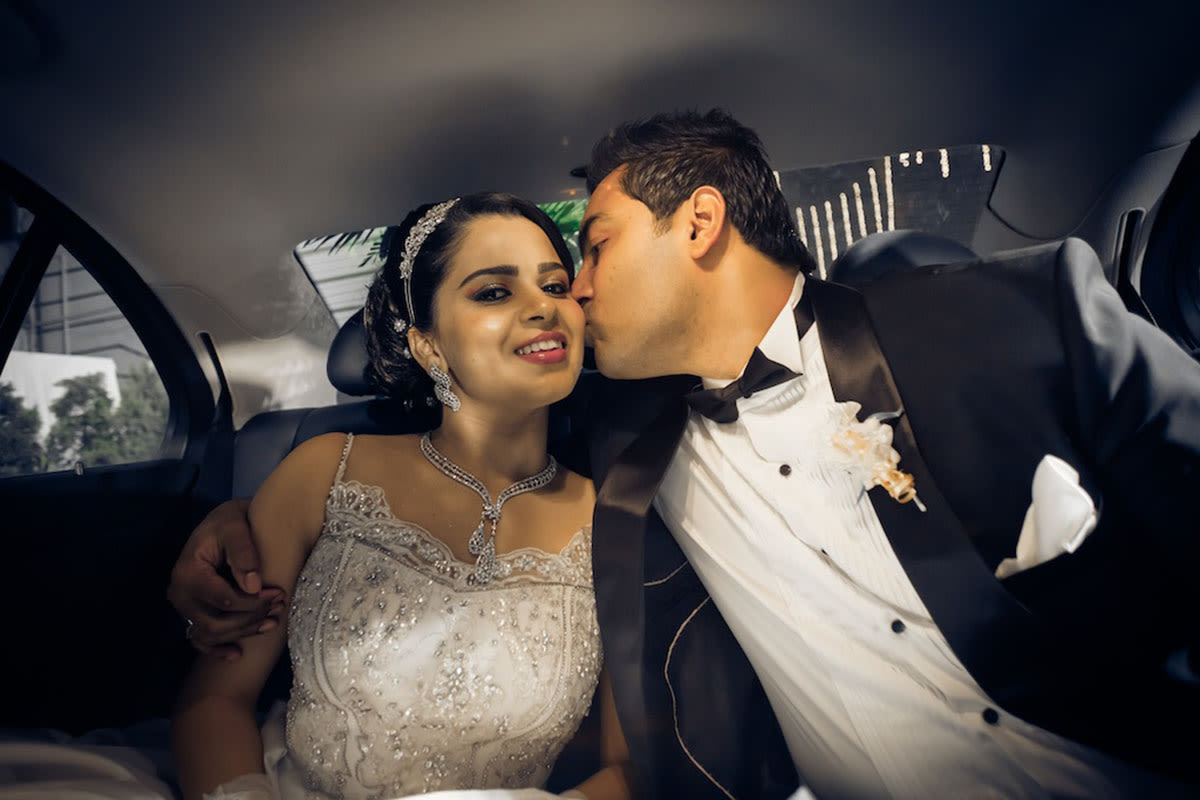 A quick peck on the cheek by Sagar Makwana Wedding-photography | Weddings Photos & Ideas