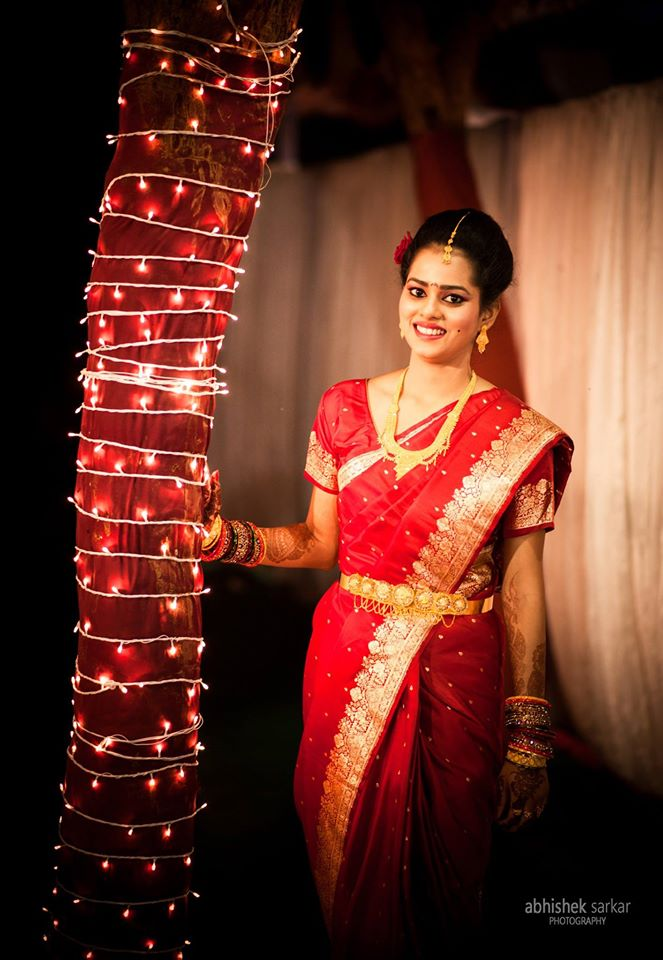 Red beauty! by Abhishek Sarkar Wedding-photography Bridal-jewellery-and-accessories Wedding-dresses | Weddings Photos & Ideas