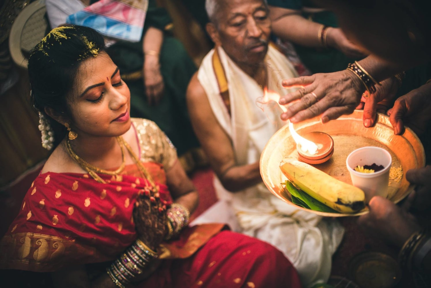 South Indian Rituals by Abhishek Sarkar Wedding-photography Bridal-jewellery-and-accessories | Weddings Photos & Ideas