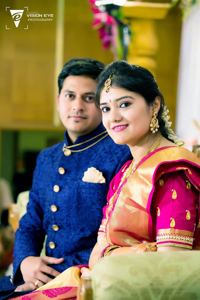 Bride and Groom Portrait Shot by Srikanth Reddy Basadi Wedding-photography | Weddings Photos & Ideas