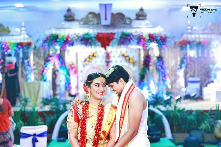 Romantic Bride and Groom Pose by Srikanth Reddy Basadi Wedding-photography | Weddings Photos & Ideas