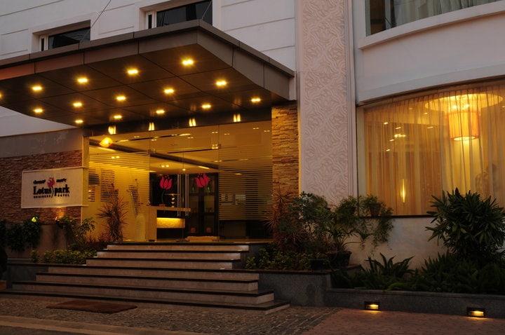 Entrance to Lotus Park Hotel by Rashmi Modern | Interior Design Photos & Ideas