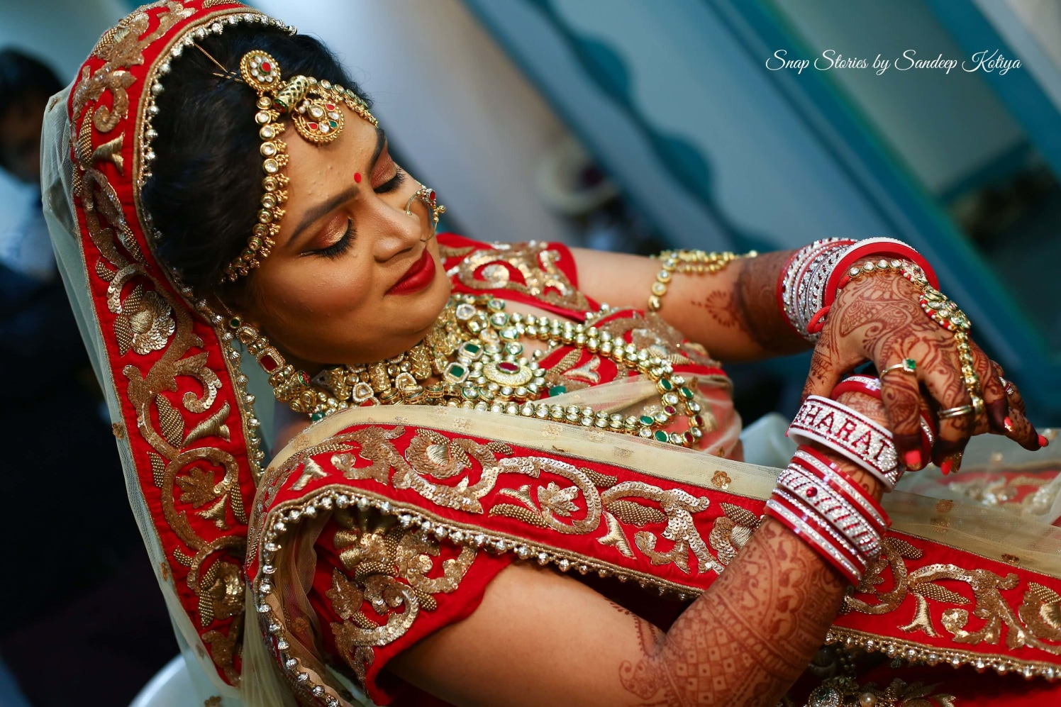 All about the red magic! by sandip kotia Photography Wedding-photography Bridal-makeup Wedding-hairstyles | Weddings Photos & Ideas
