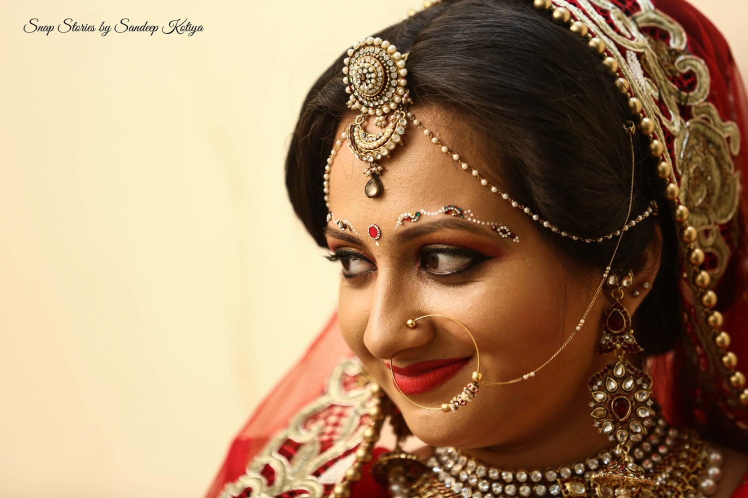 Color me red! by sandip kotia Photography Wedding-photography Bridal-jewellery-and-accessories Bridal-makeup | Weddings Photos & Ideas
