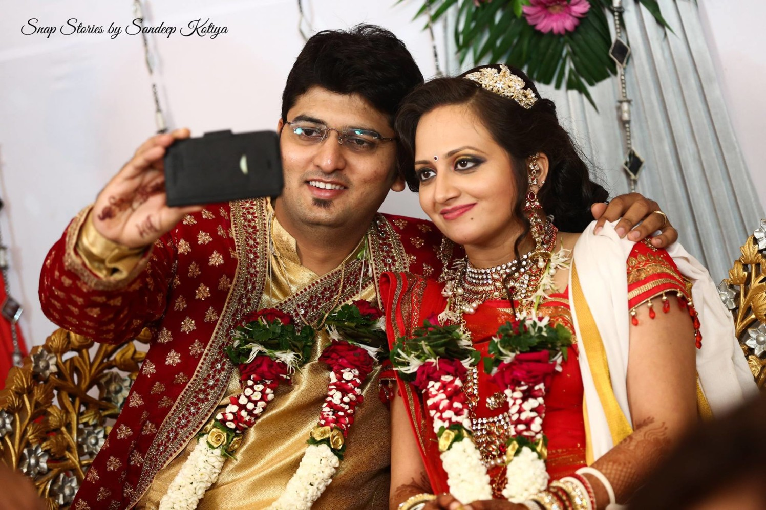 Let me take our selfie! by sandip kotia Photography Wedding-photography Bridal-jewellery-and-accessories | Weddings Photos & Ideas