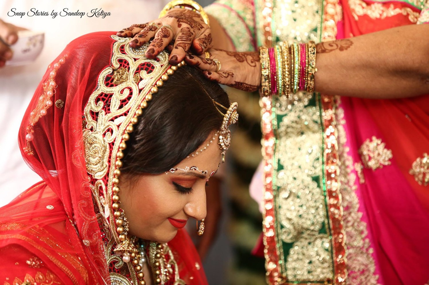 Overshadow of blessings! by sandip kotia Photography Wedding-photography Bridal-jewellery-and-accessories Bridal-makeup   Weddings Photos & Ideas