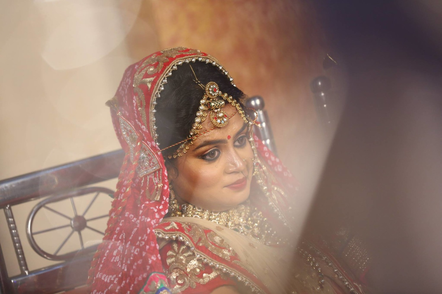 The bride! by sandip kotia Photography Wedding-photography Bridal-jewellery-and-accessories Bridal-makeup | Weddings Photos & Ideas
