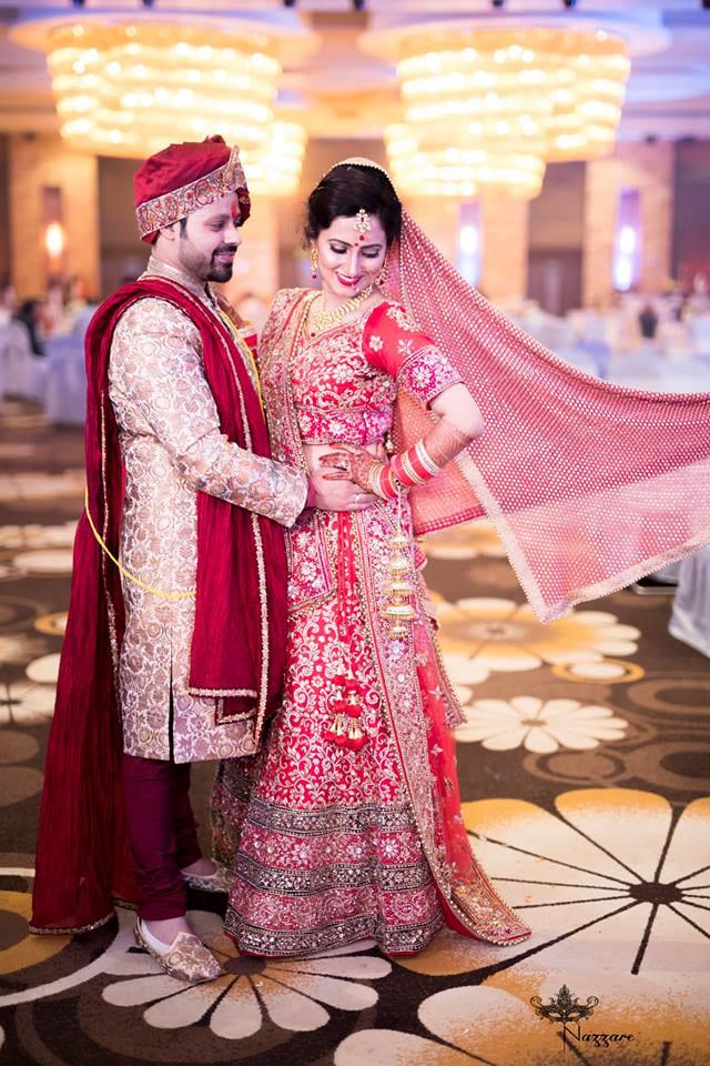 Wedding Day Couple Portrait by Rishabh Asthana  Wedding-photography Groom-wear-and-accessories Wedding-dresses | Weddings Photos & Ideas