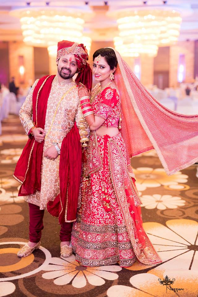 Couple Portrait On Wedding Day by Rishabh Asthana  Wedding-photography Groom-wear-and-accessories Wedding-dresses | Weddings Photos & Ideas