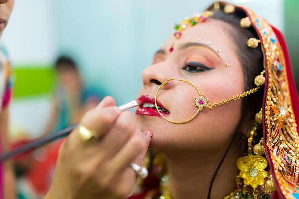 Bride Getting Ready For Her Wedding by Nazzare Photography  Wedding-photography Bridal-jewellery-and-accessories Bridal-makeup | Weddings Photos & Ideas