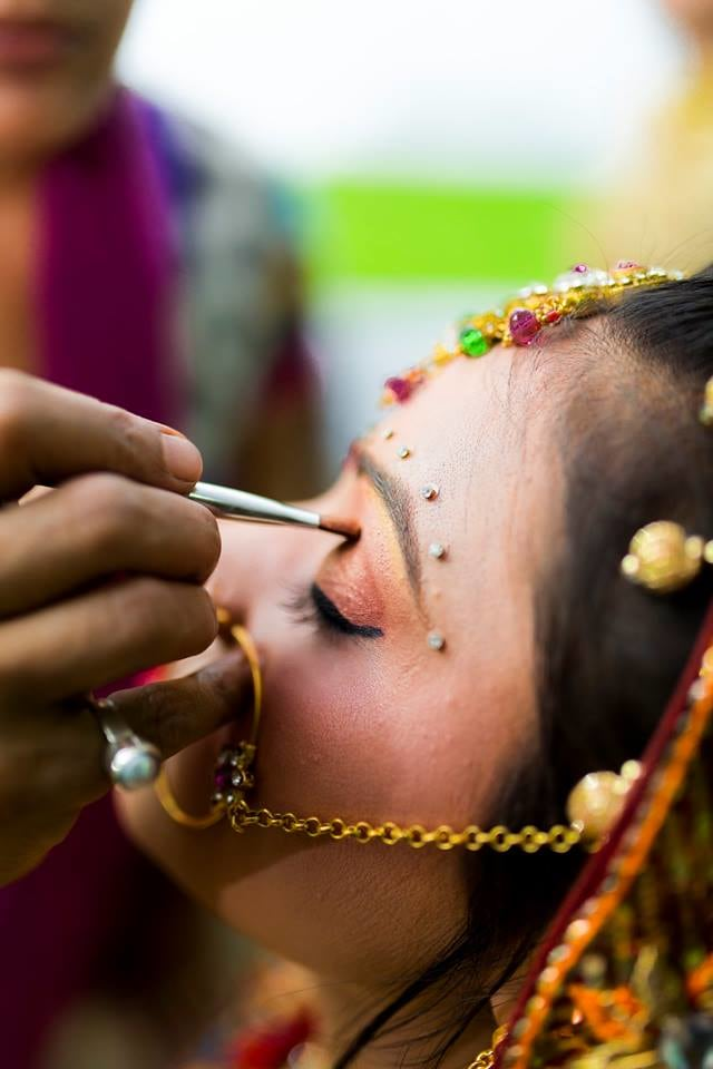 Getting Ready For Her Special day by Nazzare Photography  Wedding-photography Bridal-jewellery-and-accessories Bridal-makeup   Weddings Photos & Ideas