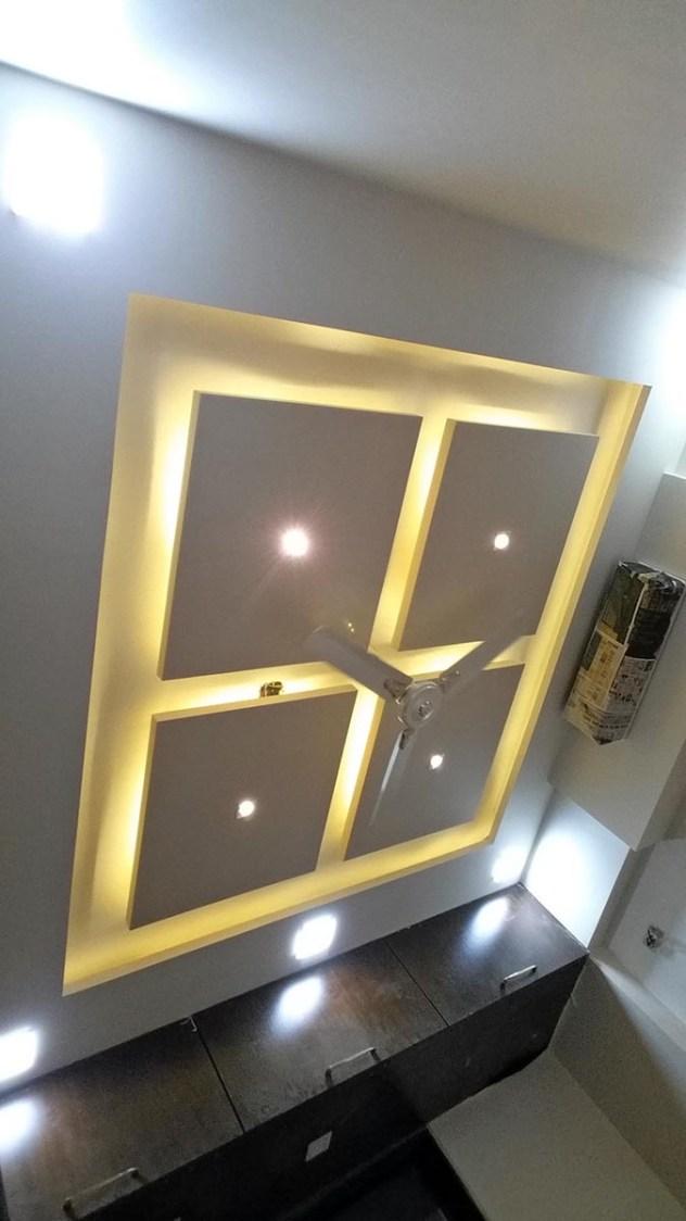 False Ceiling by Alaya D'decor  Living-room Modern | Interior Design Photos & Ideas