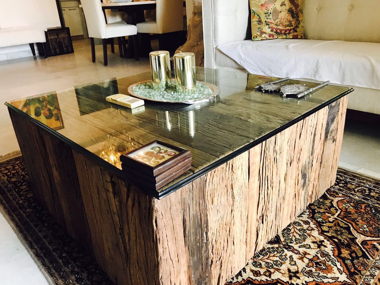 Big wooden table by KaSa Vivo Living-room Contemporary | Interior Design Photos & Ideas