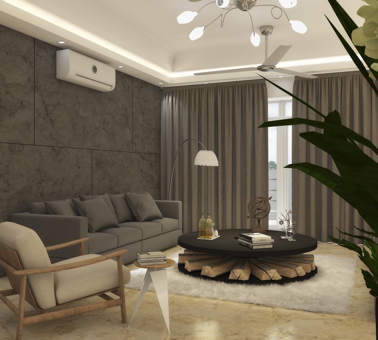 Grey  themed living room by KaSa Vivo Living-room Contemporary | Interior Design Photos & Ideas