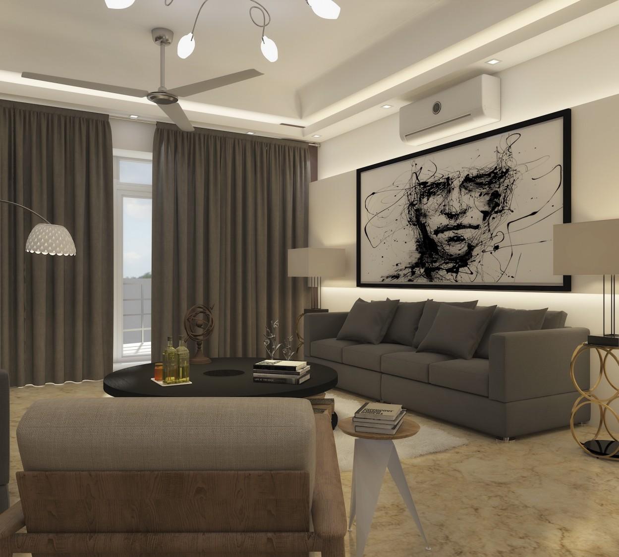Artistic living room by KaSa Vivo Contemporary | Interior Design Photos & Ideas