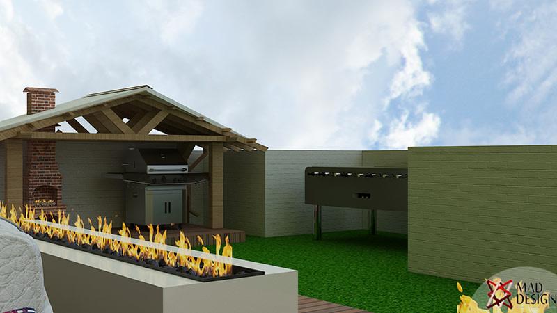 Modern Terrace Decor by Mad Design Open-spaces Modern | Interior Design Photos & Ideas