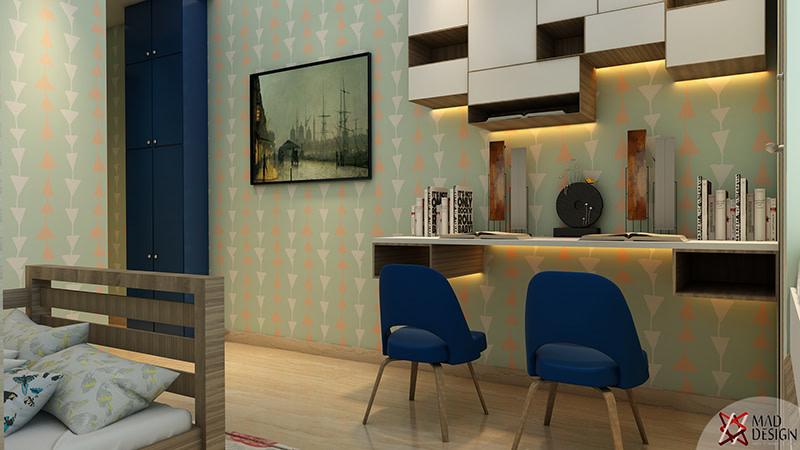 Modern Study Room by Mad Design Indoor-spaces Modern | Interior Design Photos & Ideas