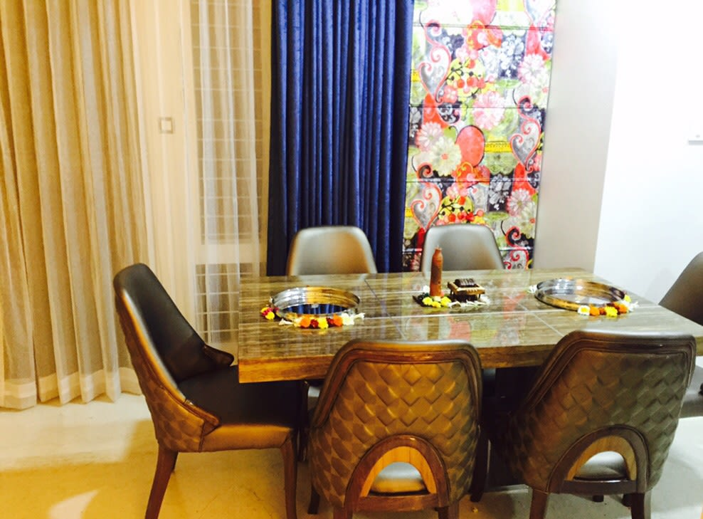 Marble Top Dining Table by Anshuma Vaidya Bora Dining-room Modern | Interior Design Photos & Ideas