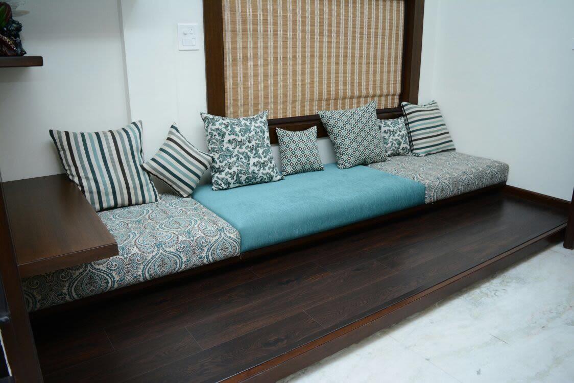 Unique Blue Shaded Sofa Set For A Living Room by Anshuma Vaidya Bora Living-room Modern | Interior Design Photos & Ideas