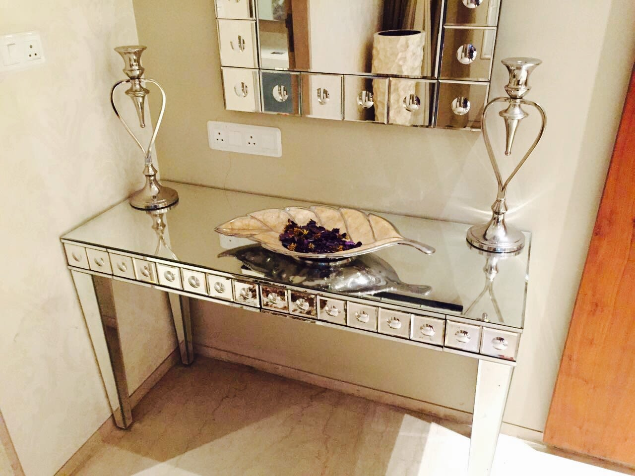 Stunning Silver Display Unit by Anshuma Vaidya Bora Living-room Contemporary | Interior Design Photos & Ideas