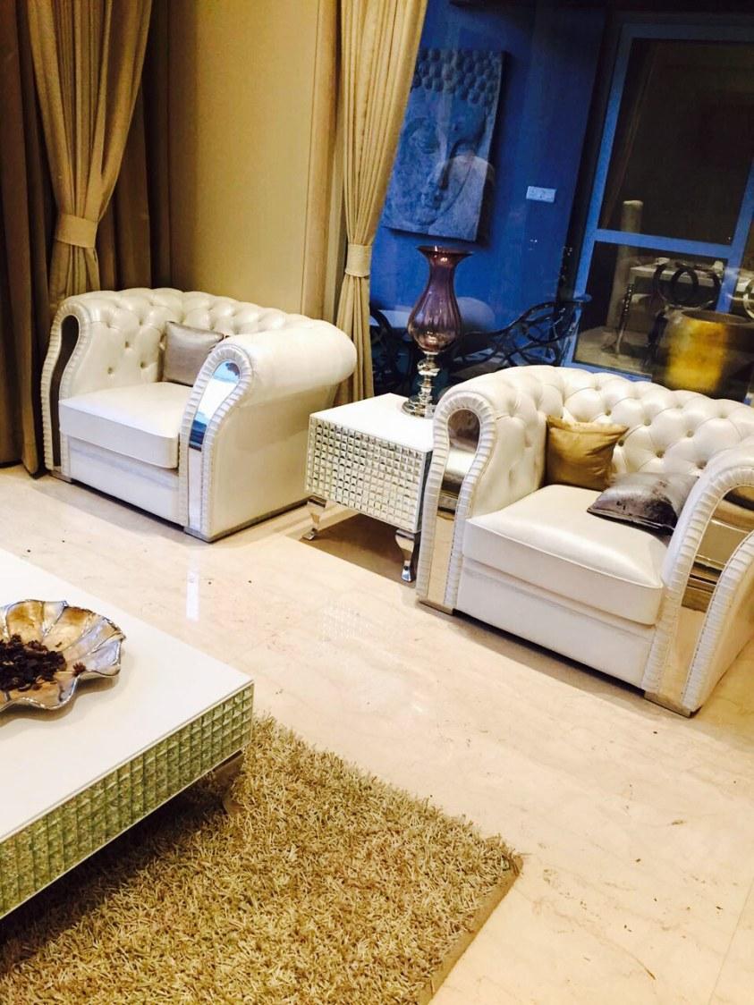 White Shaded Sofa For Living Room by Anshuma Vaidya Bora Living-room Modern | Interior Design Photos & Ideas