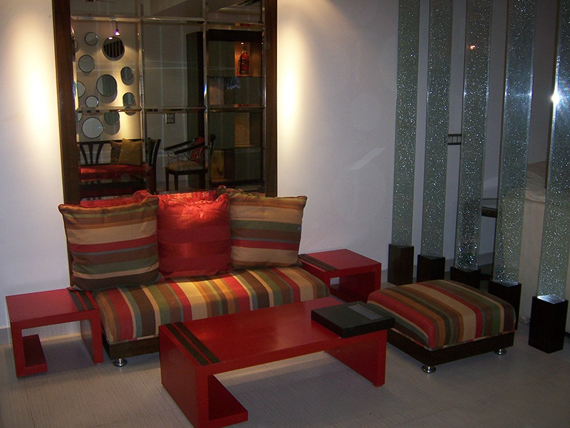 Multi Colored Sofa by Esthetics Interior Living-room Contemporary | Interior Design Photos & Ideas