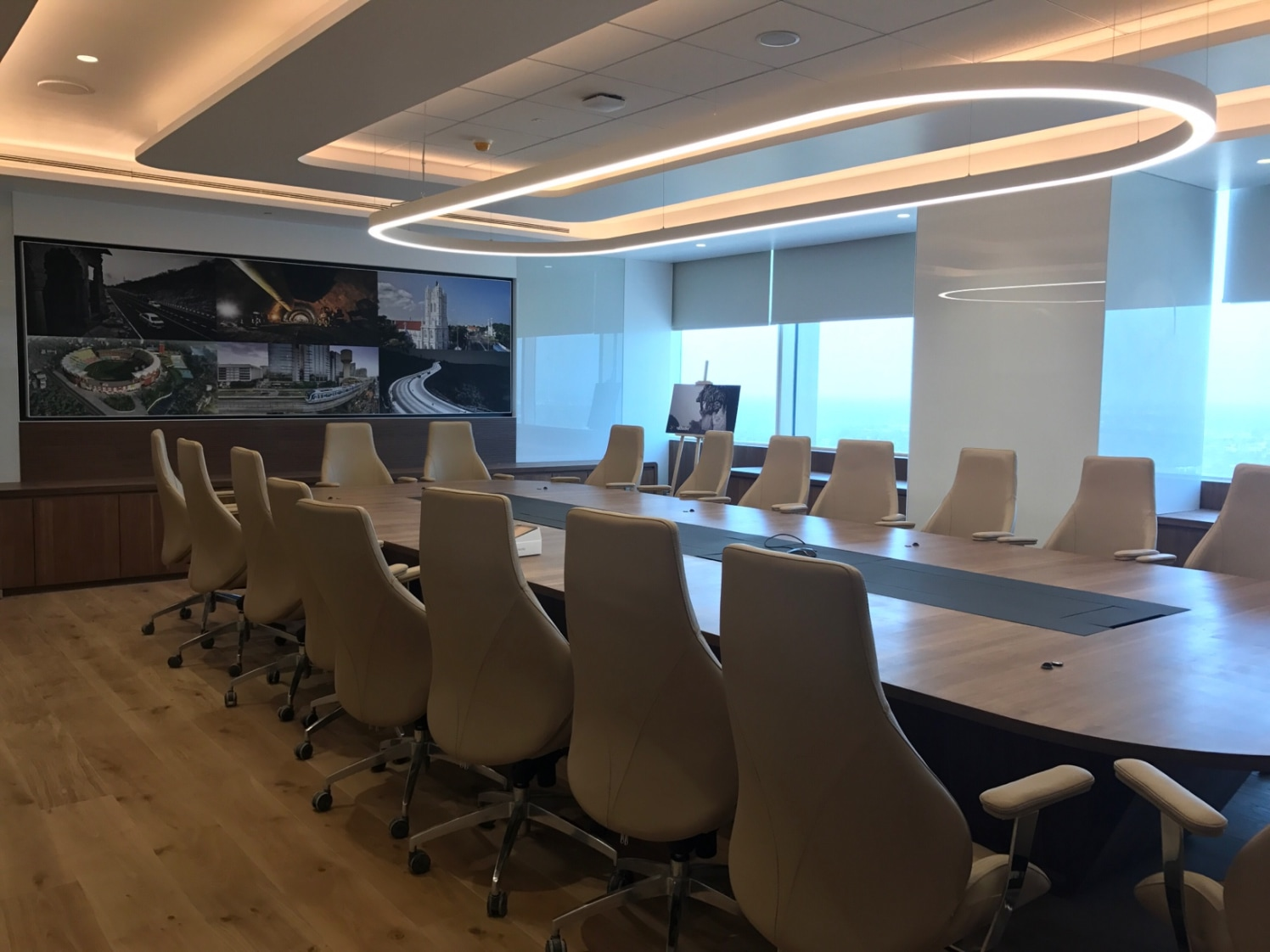 Classic Conference Room With Comfy Chairs by Aanoshka Choksi  Contemporary | Interior Design Photos & Ideas