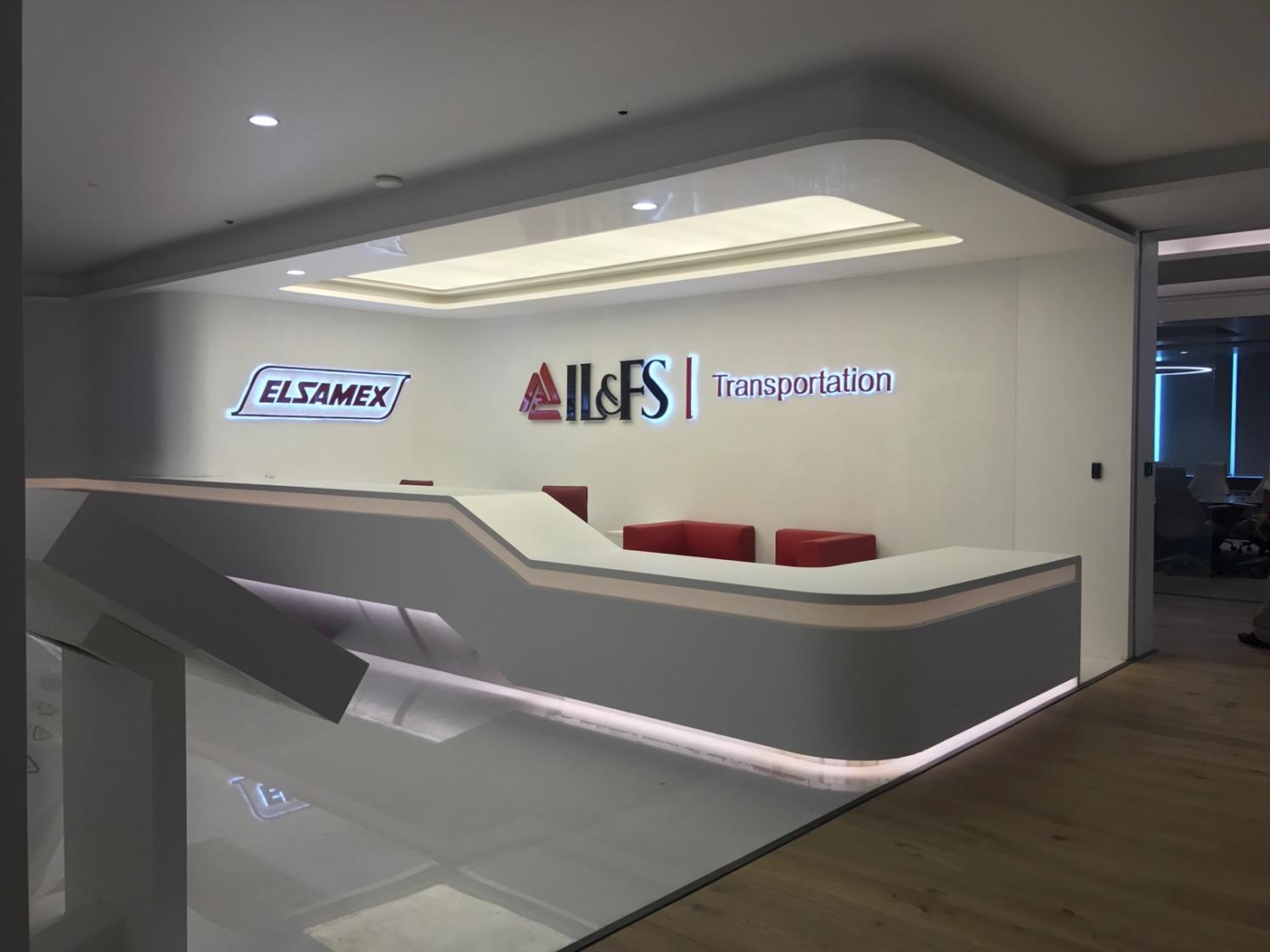 Office Reception With Sleek Edged Furniture by Aanoshka Choksi  Modern | Interior Design Photos & Ideas