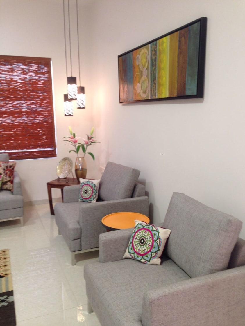 Living Area With Lawson Loveseat Sofa by Aanoshka Choksi  Living-room Contemporary   Interior Design Photos & Ideas