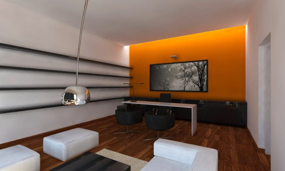 Office Space With Sleek Interiors And Wooden Flooring by Aanoshka Choksi Contemporary | Interior Design Photos & Ideas