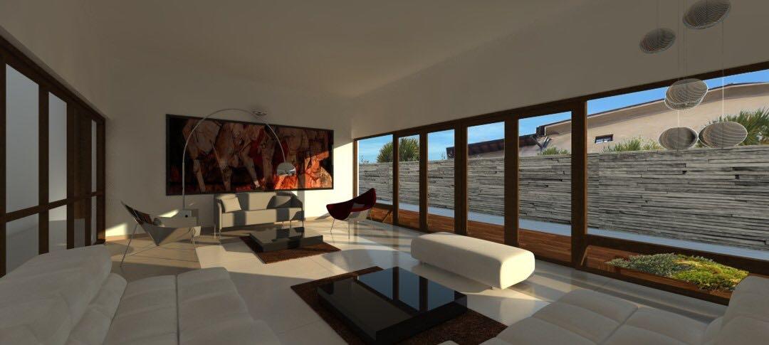 Spacious Living Area With Mid Century Modern Furniture by Aanoshka Choksi  Contemporary | Interior Design Photos & Ideas