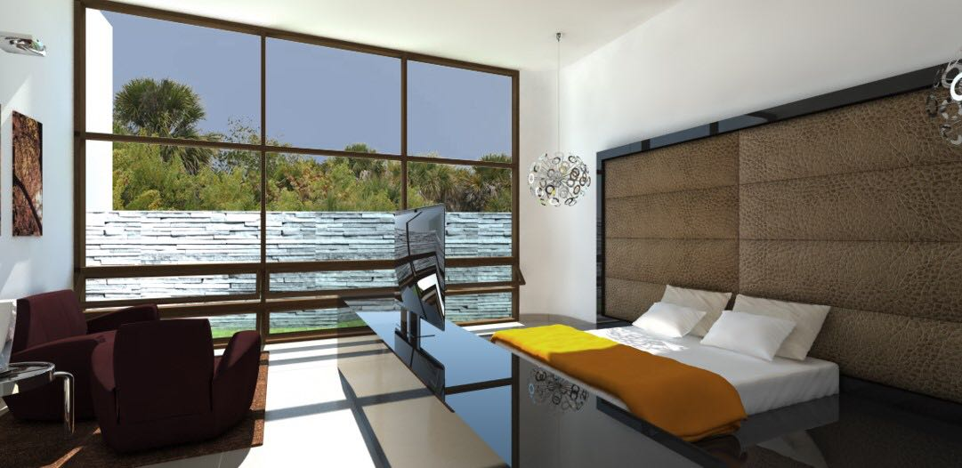 Bedroom With Landscape View Windows by Aanoshka Choksi  Modern | Interior Design Photos & Ideas