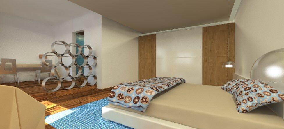 Bedroom With Wooden Flooring And Full Wall Wardrobe by Aanoshka Choksi  Bedroom Contemporary | Interior Design Photos & Ideas