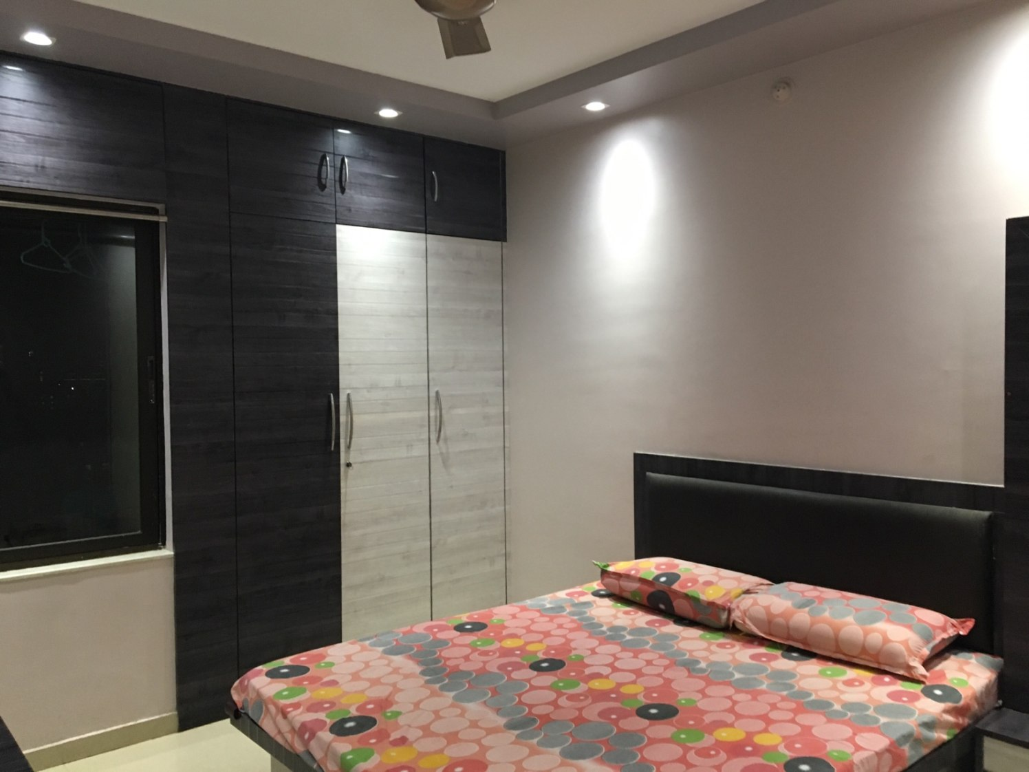 Bedroom With Mounted Wooden Wardrobe by Kalyani Kulkarni Bedroom Contemporary   Interior Design Photos & Ideas