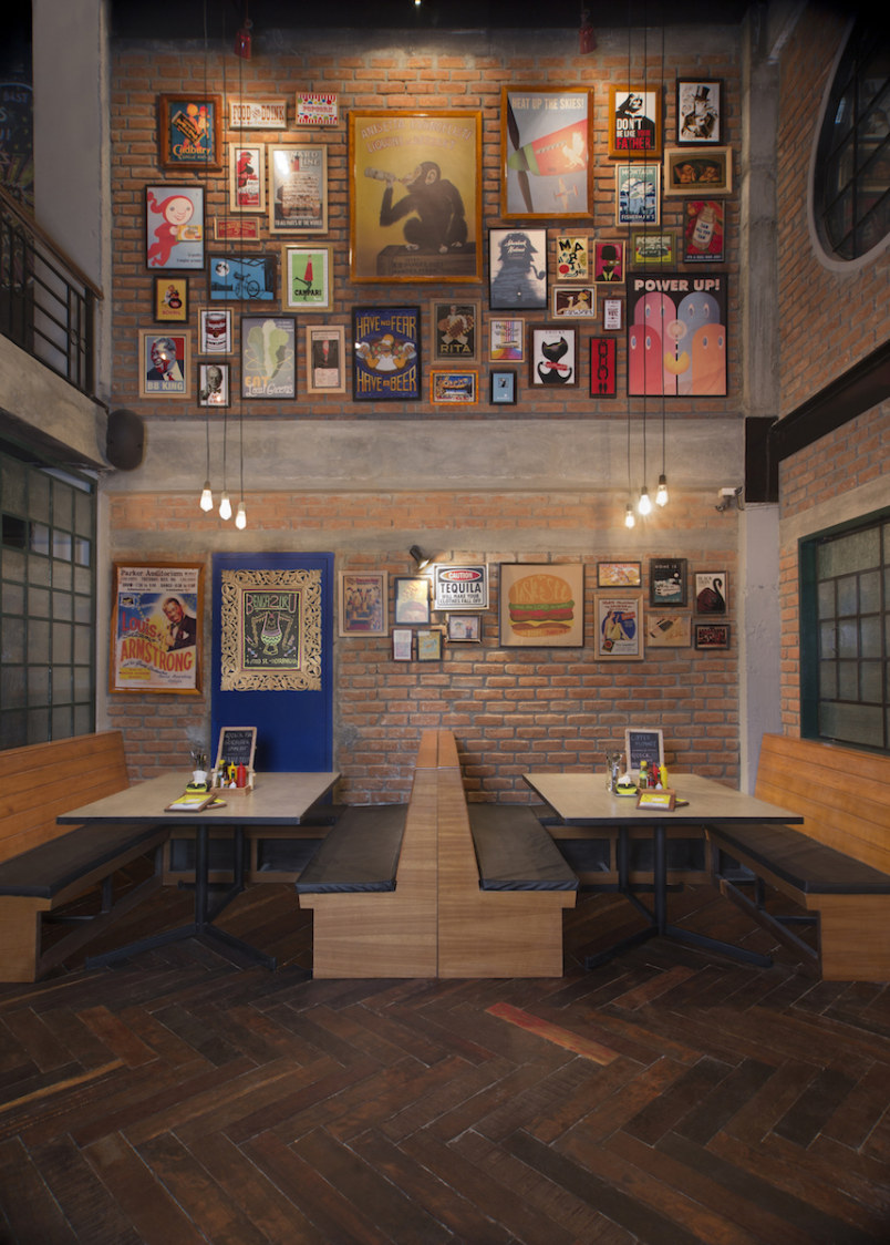 Eclectic Restaurant With Brick Wall Decor by Jatin Hukkeri Eclectic | Interior Design Photos & Ideas