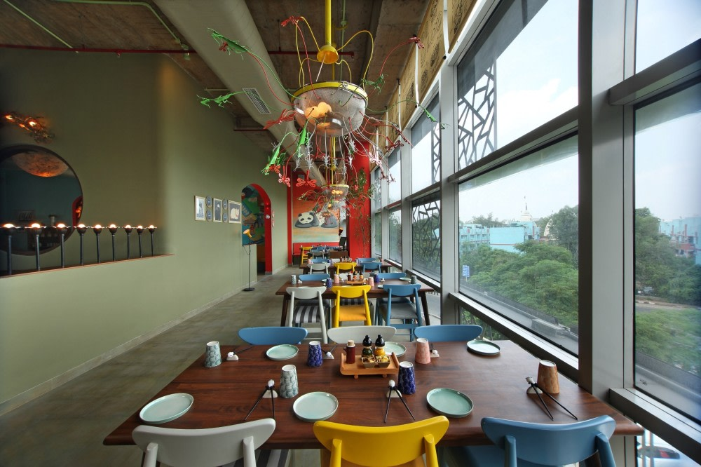 Eclectic Cafe With Narrow Lane Layout by Jatin Hukkeri Eclectic | Interior Design Photos & Ideas