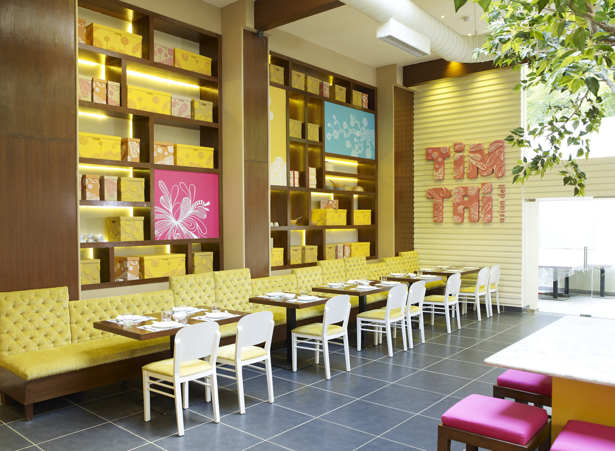Eclectic Restaurant With Tile Flooring by Jatin Hukkeri Eclectic   Interior Design Photos & Ideas