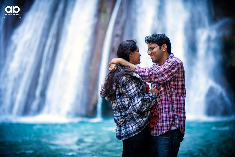 A beautiful shot by the waterfall. by Akash Anand Photography  Wedding-photography | Weddings Photos & Ideas