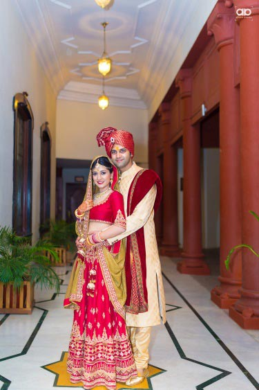 A beautiful shot of the bride and groom . by Akash Anand Photography  Wedding-photography Wedding-dresses Groom-wear-and-accessories   Weddings Photos & Ideas