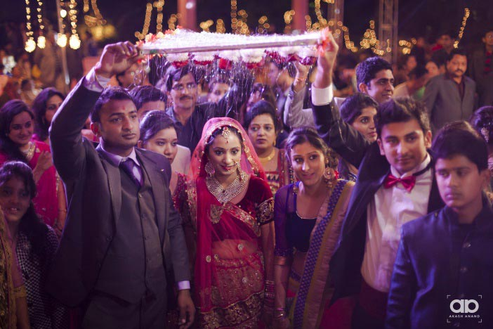 Bridal entry shot. by Akash Anand Photography  Wedding-photography | Weddings Photos & Ideas