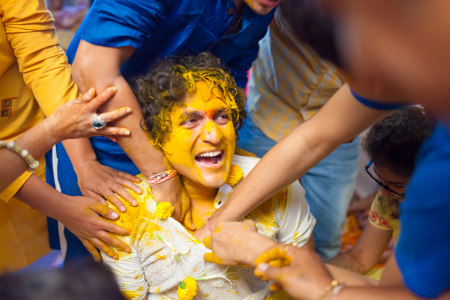Haldi ceremony of the groom. by Akash Anand Photography  Wedding-photography | Weddings Photos & Ideas