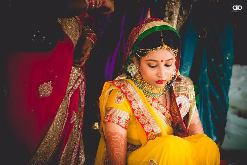 A sunny bride on her D-day. by Akash Anand Photography  Wedding-photography Bridal-jewellery-and-accessories Bridal-makeup | Weddings Photos & Ideas