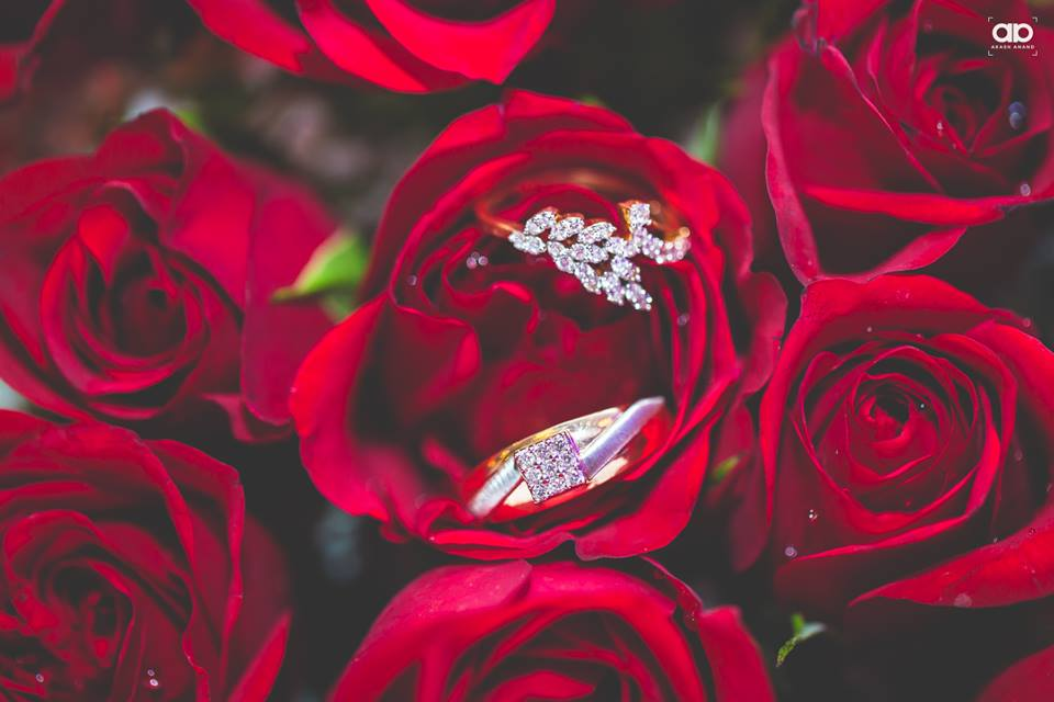 Beautiful ring shot on roses. by Akash Anand Photography  Bridal-jewellery-and-accessories | Weddings Photos & Ideas