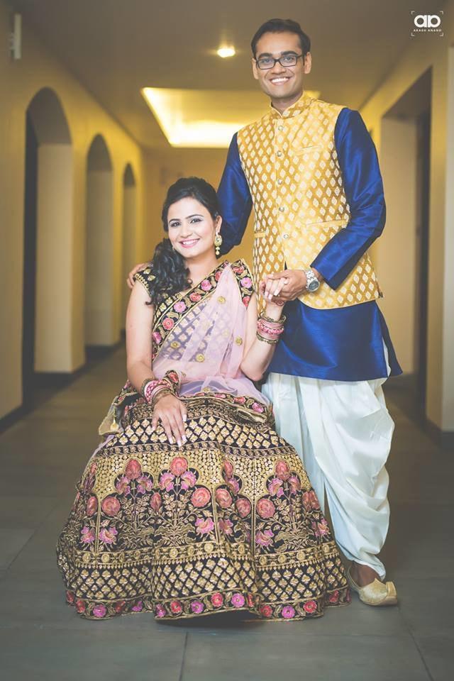 Vibrant groom and bride . by Akash Anand Photography  Wedding-photography Bridal-makeup Wedding-dresses Groom-wear-and-accessories | Weddings Photos & Ideas